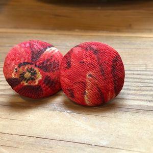 Vintage | Statement Button-style Pierced Earrings
